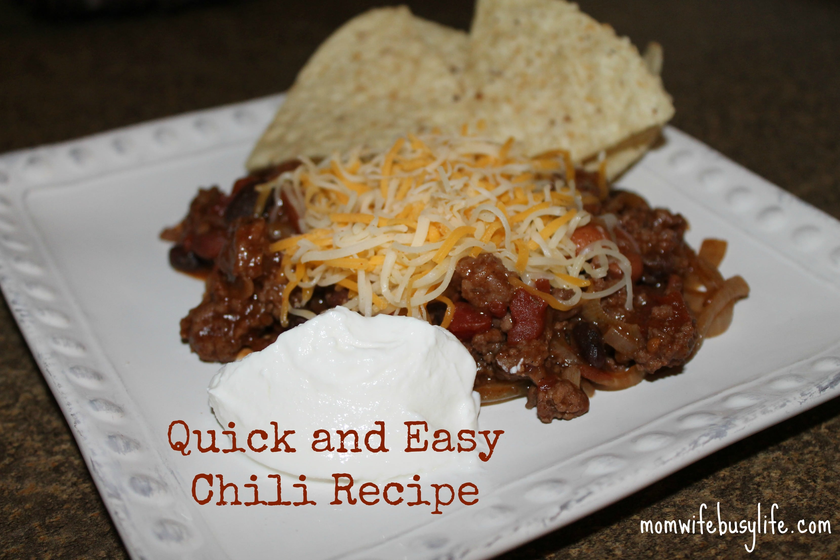 Quick and Easy Chili Recipe - Mom. Wife. Busy Life.