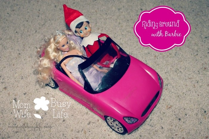 elf on the shelf ideas barbie