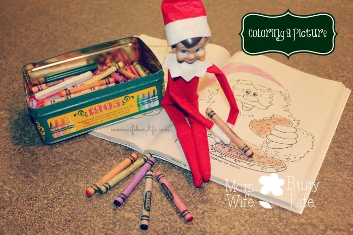 elf on the shelf ideas coloring