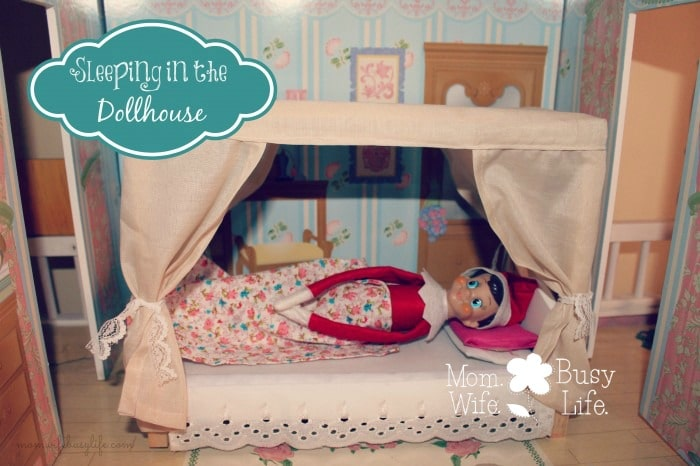 elf on the shelf ideas dollhouse
