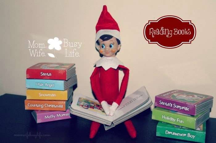 elf on the shelf ideas reading books