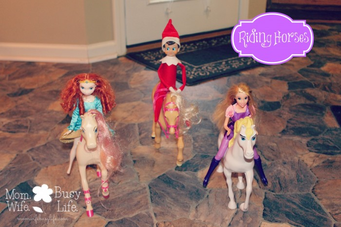 elf on the shelf ideas riding horses