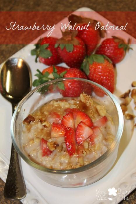 Strawberry Walnut Oatmeal