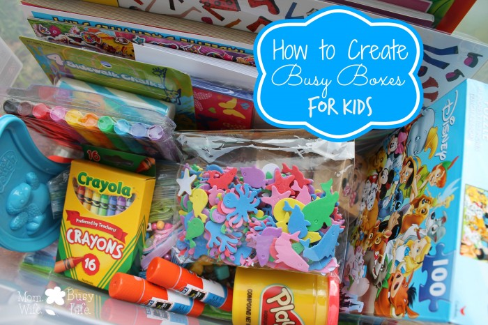 Busy Boxes for Kids