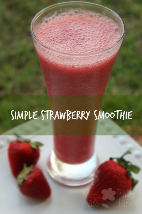 ... and easy smoothie idea? Try this Simple Strawberry Smoothie recipe