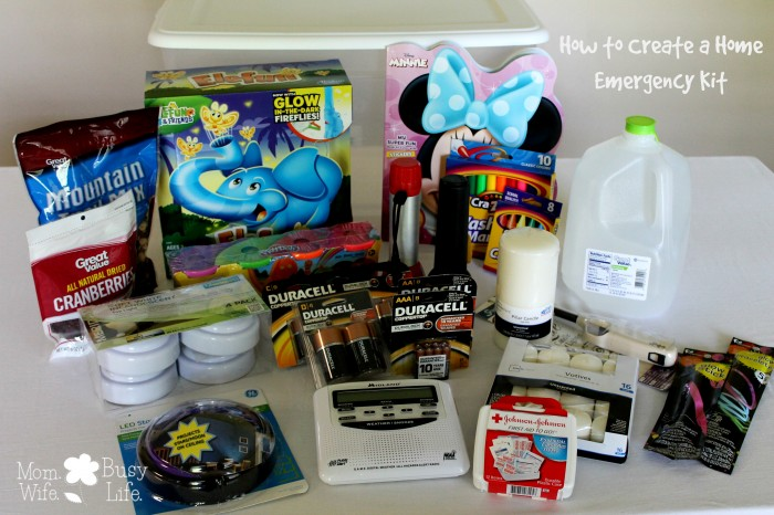 create a home emergency kit