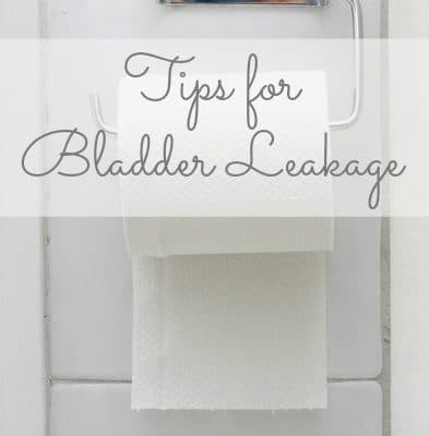 tips for bladder leakage