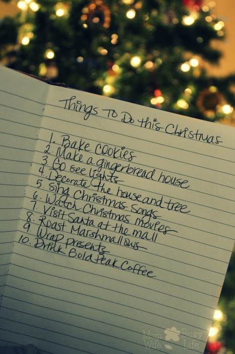 List Of Things To Do This Christmas Mom Wife Busy Life
