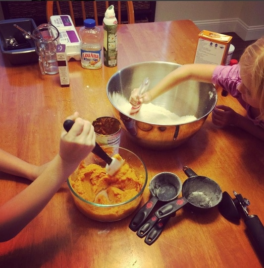 Let the kids get involved in the baking process!