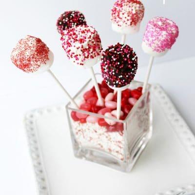 Valentines Day Marshmallow Pops