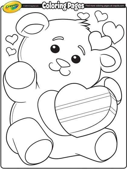 Printable Valentine\'s Day Coloring Pages - Mom. Wife. Busy Life.