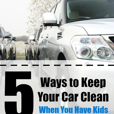 how to keep car clean with kids
