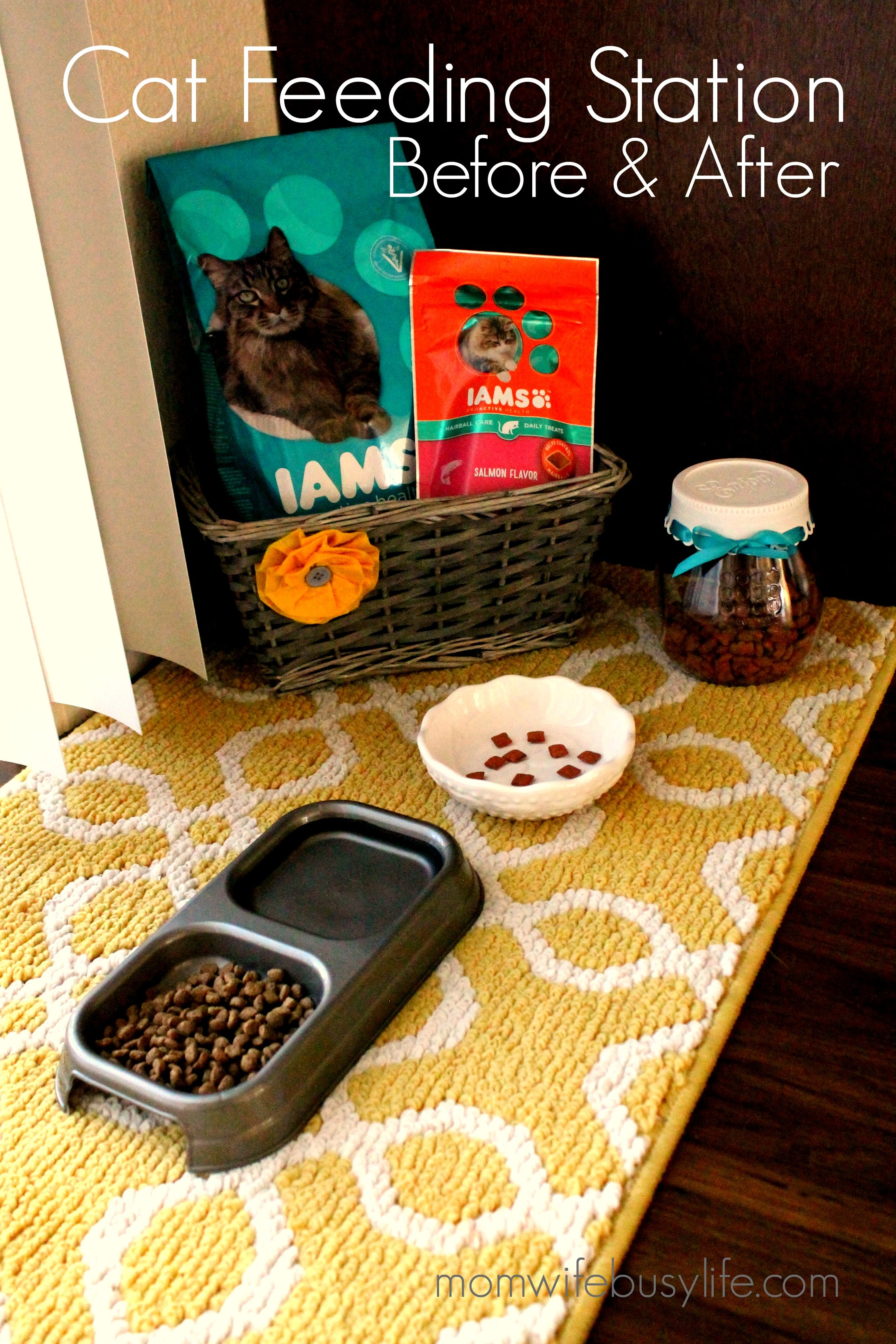 How To Create A Cute Cat Feeding Station Mom Wife Busy