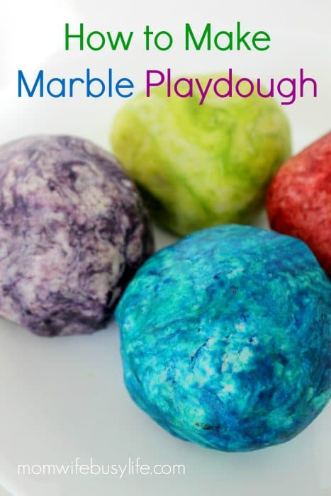 How to Make Marble Playdough