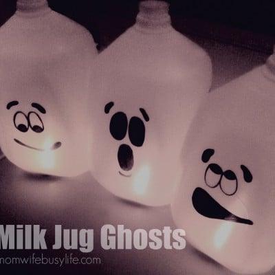 Milk Jug Ghosts Halloween Craft