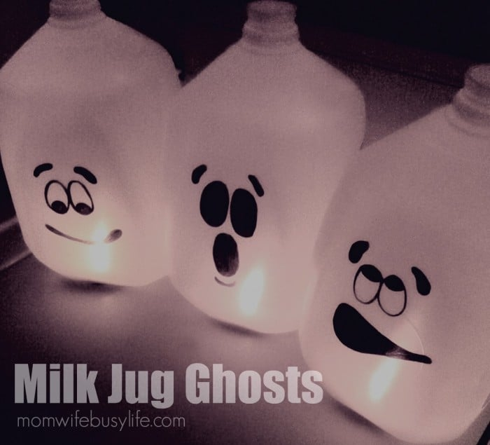 Milk Jug Ghosts Halloween Craft