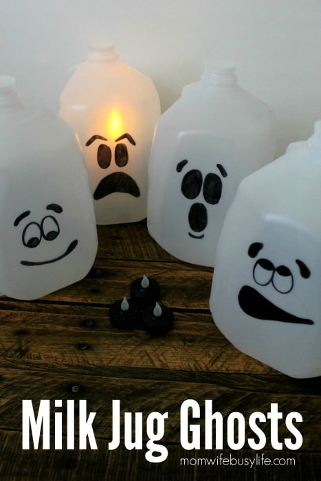 Milk Jug Ghosts Halloween Craft Idea