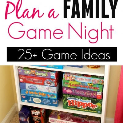 Plan a Family Game Night 2