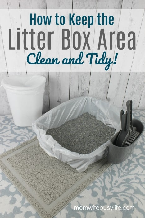 how to keep the litter box area clean and tidy