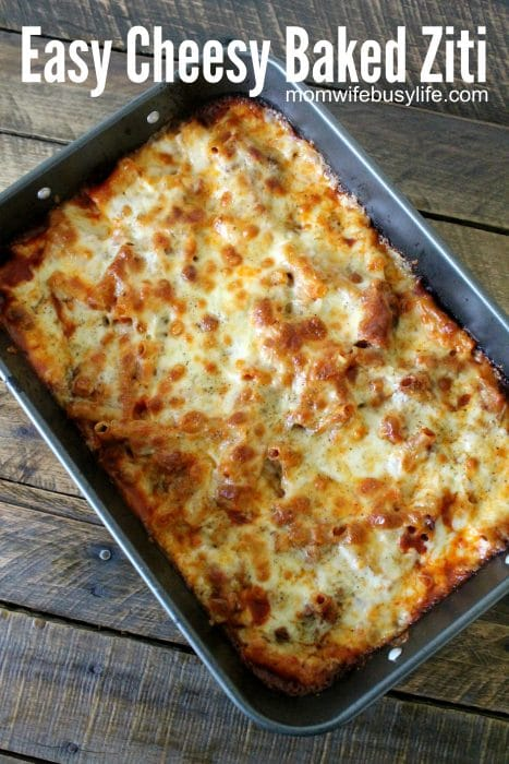 Easy Cheesy Baked Ziti Recipe