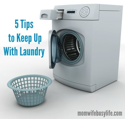 tips to keep up with laundry