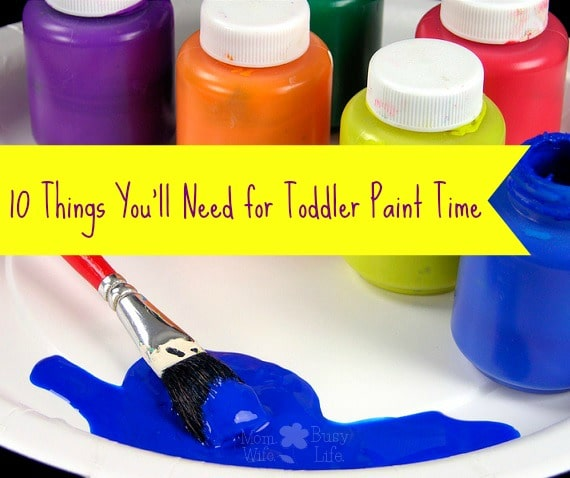 toddler paint time