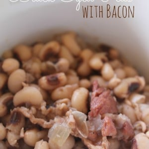 black eyed peas with bacon