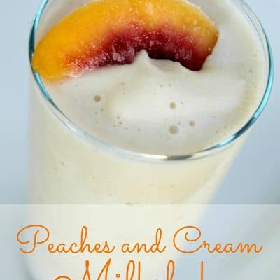 Peaches an Cream Milkshake Recipe Silk