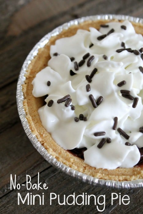No-Bake Mini Chocolate Pudding Pie