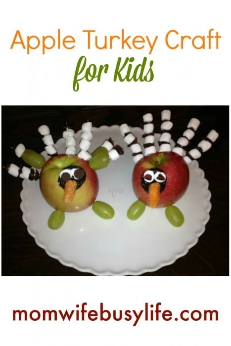 Edible Apple Turkey Craft for Kids