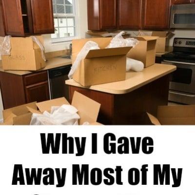 gave away storage bins