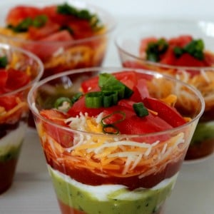 seven layer dip cups recipe