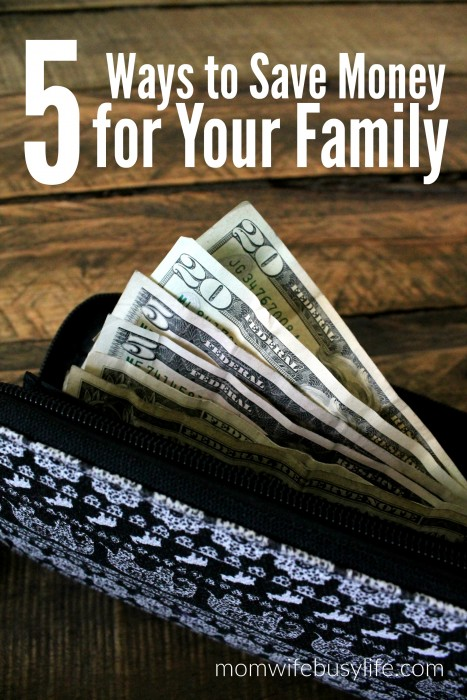 5 Ways to Save Money For Your Family