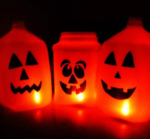 Milk Jug Pumpkins Halloween Craft