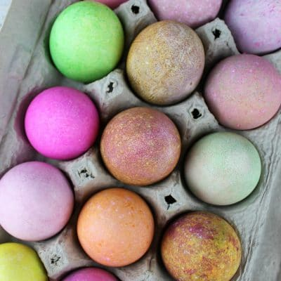 dye eggs with rice