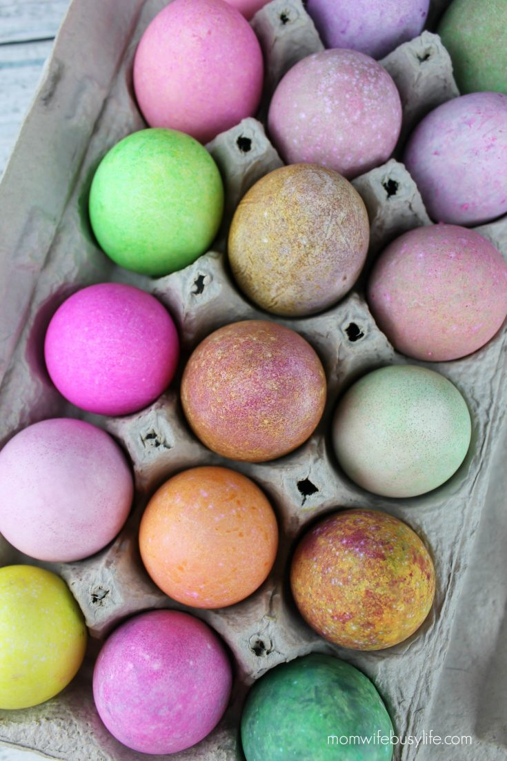 How to Dye Easter Eggs with Rice
