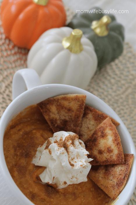Pumpkin Pie Spice Dip with Cinnamon Sugar Chips