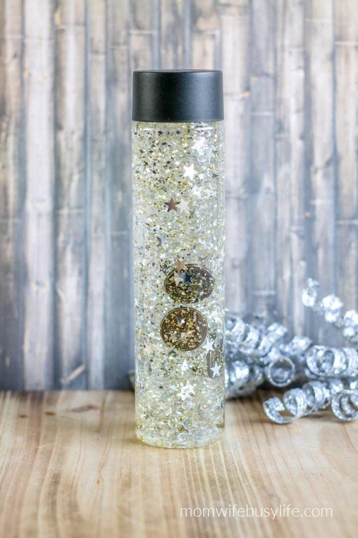 New Year's Sensory Bottle for Kids