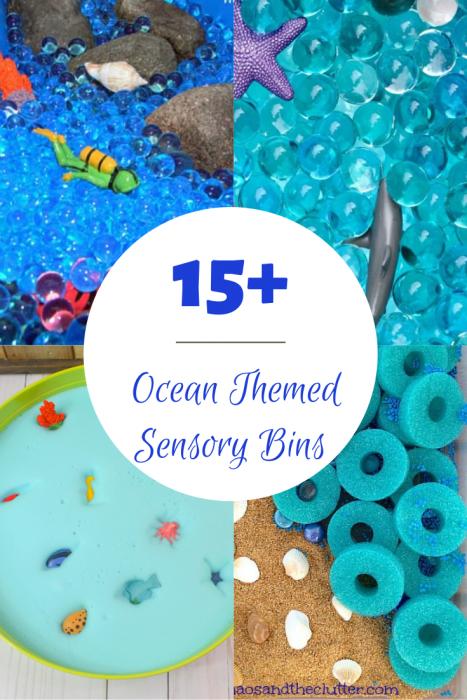 Ocean Themed Sensory Bins for Kids