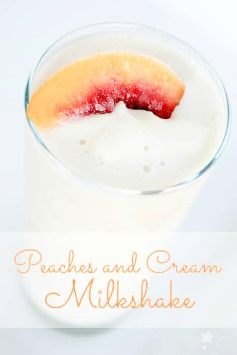 Peaches and Cream Milkshake Recipe