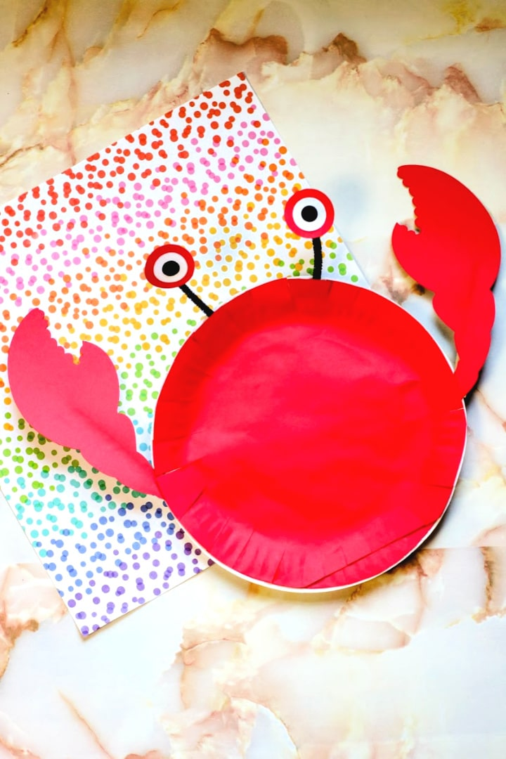 Crab Paper Plate Craft