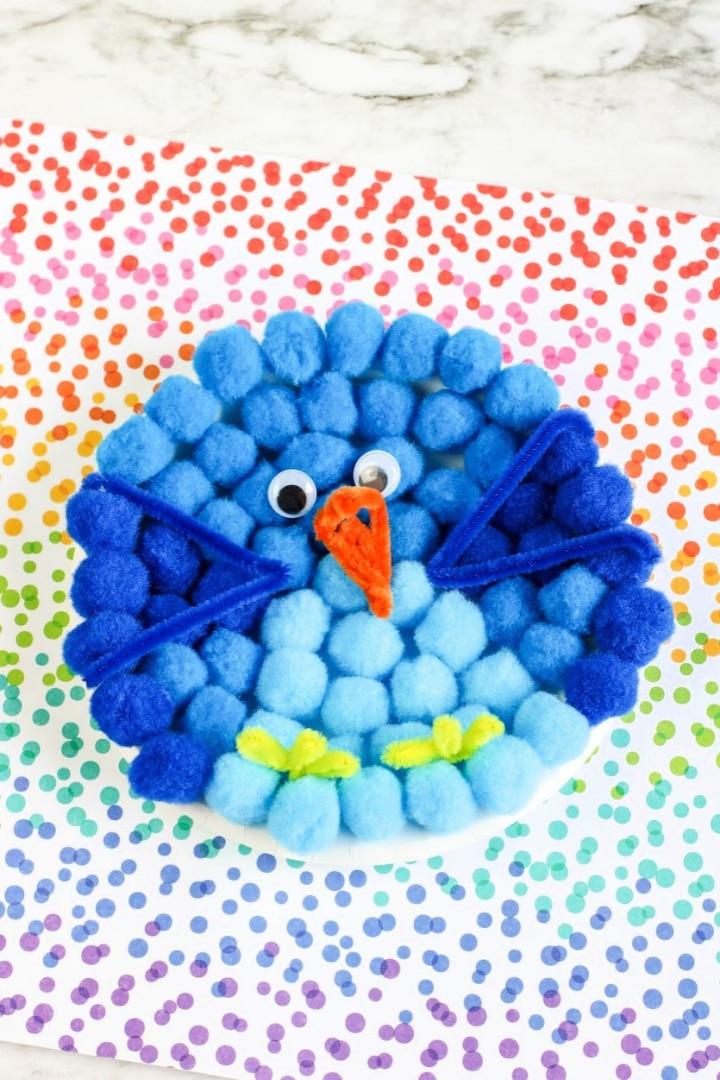 Blue Bird Paper Plate Craft