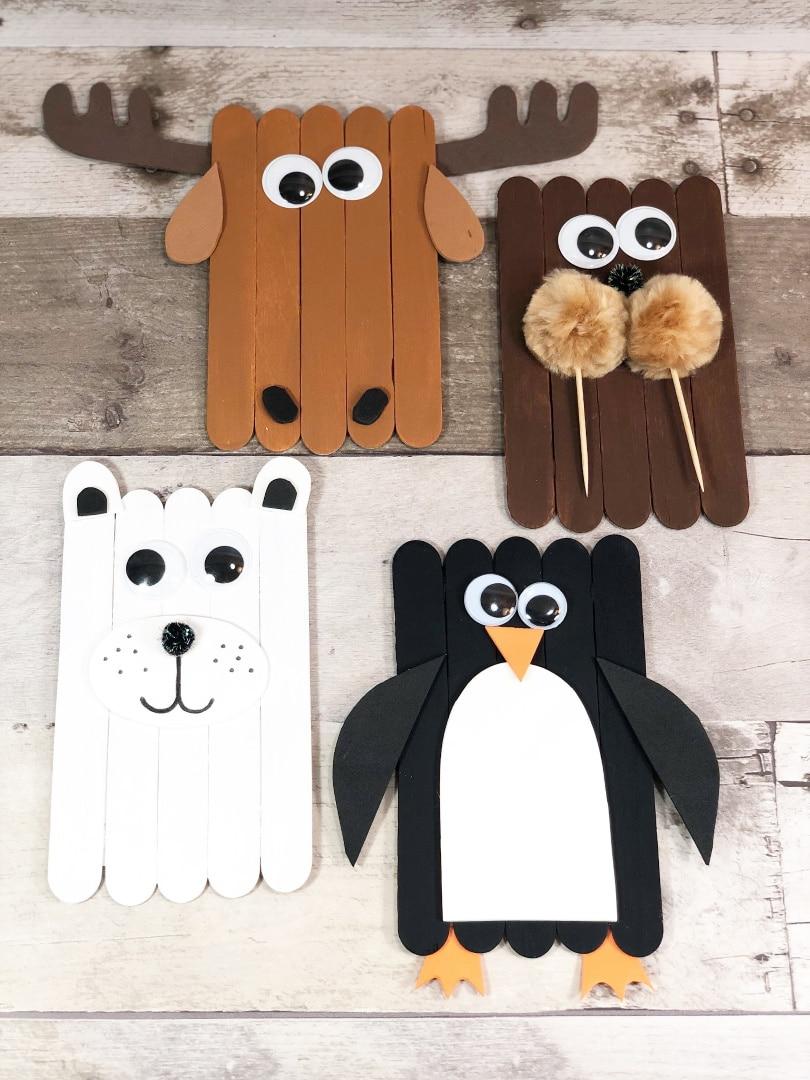 Arctic Animals Popsicle Stick Craft