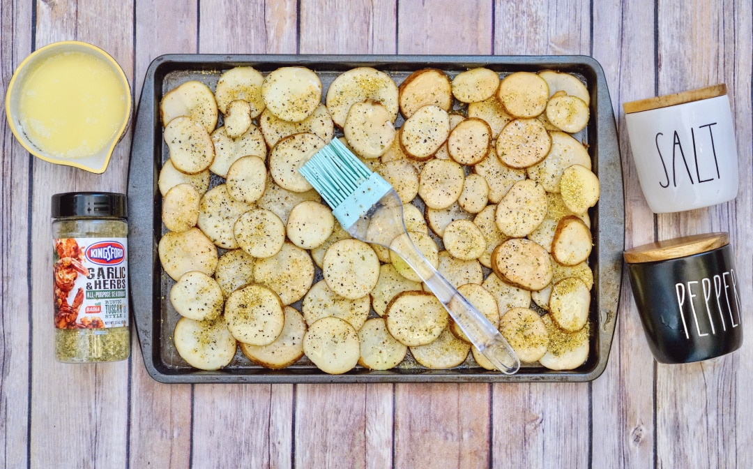Sheet Pan Garlic Herb Potatoes
