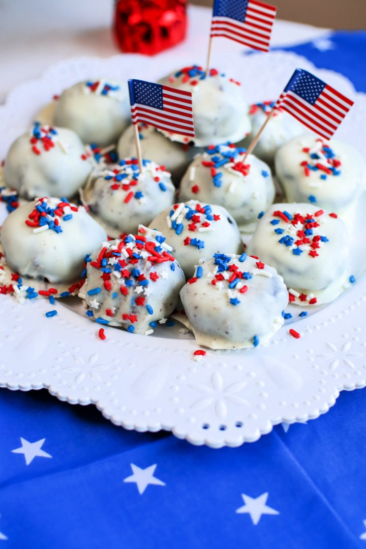 Patriotic Oreo Truffles