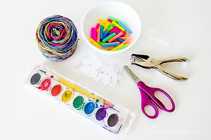 Watercolor Paper Leis