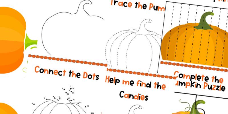 FREE Printable Pumpkin Activity Pack