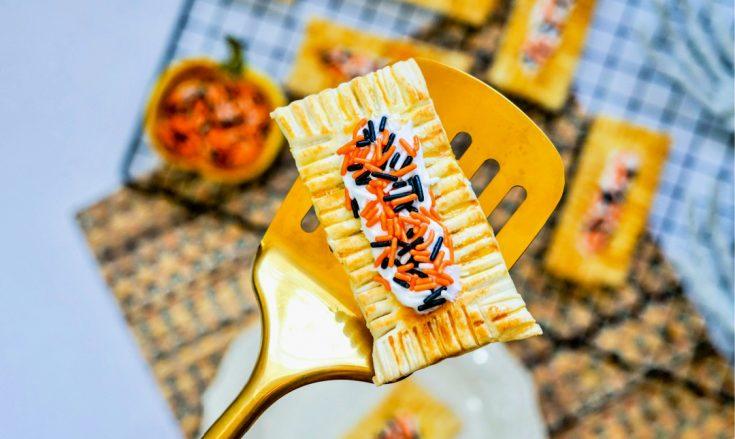 Air Fryer Halloween Pumpkin Pop Tarts