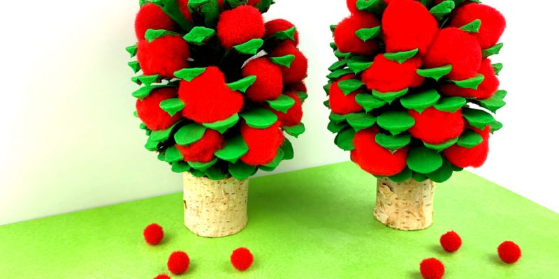 Pine Cone Apple Tree Craft for Kids