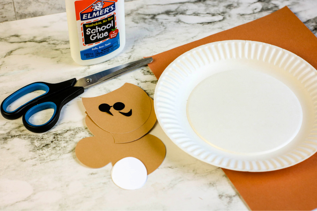 Monkey Paper Plate Craft